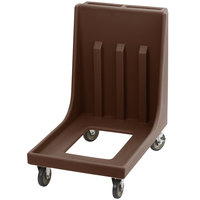 Cambro Camdolly CD1826MTC131 Dark Brown Dolly for 1826MTC Camcarrier Tray / Sheet Pan Carrier