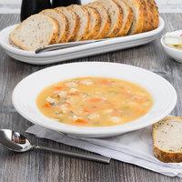 Homer Laughlin 451100 Fiesta White 13.25 oz. Rim Soup Bowl - 12/Case