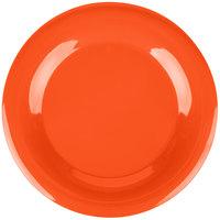 Carlisle 3302452 Sierrus 12 inch Sunset Orange Wide Rim Melamine Plate - 12/Case