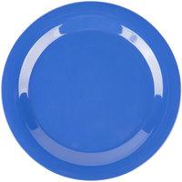 Carlisle 3300214 Sierrus 10 1/2 inch Ocean Blue Narrow Rim Melamine Plate - 12/Case