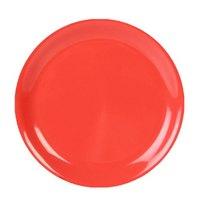 7 1/4 inch Orange Narrow Rim Melamine Plate - 12/Pack
