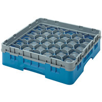 Cambro 30S800414 Teal Camrack Customizable 30 Compartment 8 1/2 inch Glass Rack