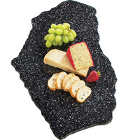 Cal-Mil 126-31 Black Ice 24 inch x 16 inch Simulated X-Stone Acrylic Tray