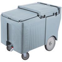 Cambro ICS125LB401 SlidingLid Slate Blue Portable Ice Bin - 125 lb. Capacity