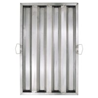 25 inch x 16 inch x 2 inch Stainless Steel Hood Filter