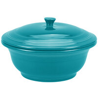 Homer Laughlin 495107 Fiesta Turquoise 2.18 Qt. Covered Casserole Dish - 2 Sets / Case