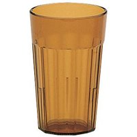 Cambro NT16153 Amber Newport Customizable Plastic Tumbler 16.4 oz. - 36/Case