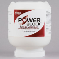 Noble Chemical 8 lb. / 128 oz. Power Block Solid Dish Machine Detergent - 4/Case