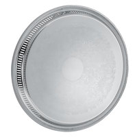Vollrath 82131 Elegant Reflections 15 1/4 inch x 1 1/2 inch Stainless Steel Round Catering Tray