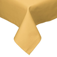 54 inch x 54 inch Yellow Hemmed Polyspun Cloth Table Cover