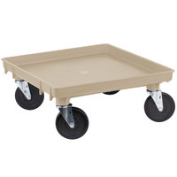 Vollrath 1697-32 Traex Beige Rack Dolly Base (No Handle) - 21 inch x 21 inch