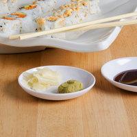 GET M-028-W Water Lily 1 oz. White Melamine Sauce Dish - 48/Case