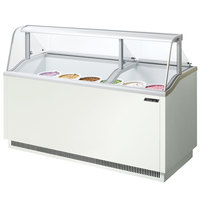 Turbo Air TIDC-70W 70 inch Low Curved Glass Ice Cream Dipping Cabinet
