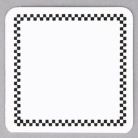Square Write On Deli Tag with Black Checkered Border - 25/Pack