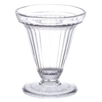 GET ICM-25-CL 6 oz. Clear Plastic Ice Cream Cup - 24 / Case