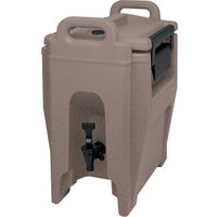 Cambro UC250194 Ultra Camtainer 2.75 Gallon Granite Sand Insulated Beverage Dispenser