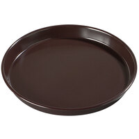 Carlisle 130001 13 inch Round Brown Melamine Serving Tray - 12/Case