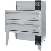 Garland G56PT/B Liquid Propane 63 inch Double Air Deck Pizza Oven - 160,000 BTU