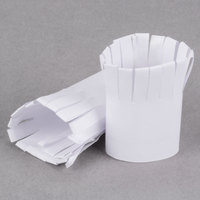 Royal Paper R819 Frilled White Paper Chop Holders - 250/Box