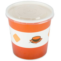 Choice 16 oz. Double Poly-Coated Paper Soup / Hot Food Cup with Vented Plastic Lid - 250/Case