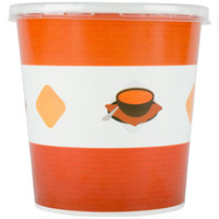 Choice 16 oz. Double-Wall Poly Paper Soup / Hot Food Cup with Plastic Lid - 250 / Case