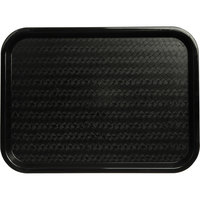 Carlisle CT121603 Cafe 12 inch x 16 inch Black Standard Plastic Fast Food Tray
