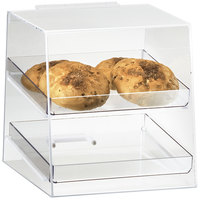 Cal-Mil 280 Classic Two Tier Acrylic Display Case with Rear Door - 10 inch x 10 inch x 11 inch