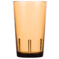 Cambro D8609 Del Mar 8 oz. Light Amber Customizable Plastic Tumbler - 36/Case