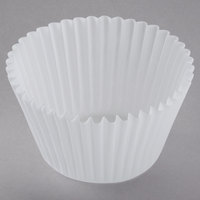 White Fluted Jumbo Baking Cup 2 1/4 inch x 1 7/8 inch - 10000/Case