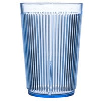 Carlisle 401054 Blue Crystalon Stack-All SAN Tumbler 9.5 oz. - 12/Case
