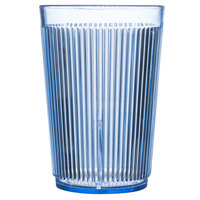 Carlisle 401054 9.5 oz. Blue Crystalon Stack-All SAN Plastic Tumbler - 12/Case