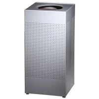 Rubbermaid SC14 Silhouettes Steel Designer Waste Receptacle - 24 Gallon (FGSC14SSPL)