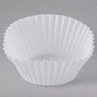 White Fluted Baking Cup 2 inch x 1 3/8 inch - 1000/Pack