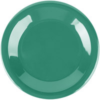 Carlisle 3301809 Sierrus 6 1/2 inch Meadow Green Wide Rim Melamine Pie Plate - 48/Case
