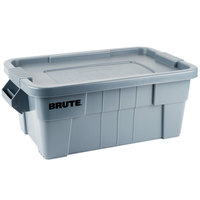 Rubbermaid FG9S3000 Gray Brute 14 Gallon NSF Tote with Lid
