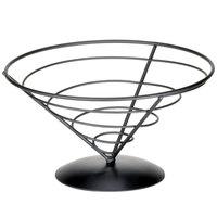 Tablecraft AC95 Vertigo Round Appetizer Wire Cone Basket - 9 inch x 5 inch