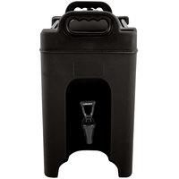 Carlisle XT250003 Cateraide 2.5 Gallon Black Insulated Beverage Dispenser