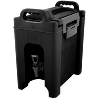Carlisle XT250003 Cateraide™ XT 2.5 Gallon Black Insulated Beverage Dispenser