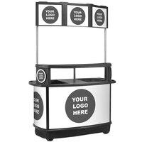 IRP 3805067 256 Qt. Customizable Illuminated Tri-Canopy Beverage Cart