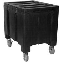 IRP 3151079 Black Ice Caddy 200 lb. Mobile Ice Bin / Beverage Merchandiser