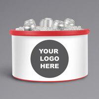 IRP 3101552 Red Icer 20 Qt. Customizable Round Countertop Merchandiser