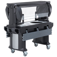 Cambro VBRHD6110 Black 6' Versa Food / Salad Bar with Heavy-Duty Casters