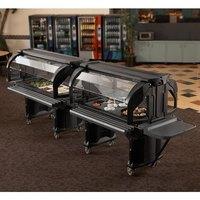 Cambro VBRHD6110 Black 6' Versa Food / Salad Bar with Heavy Duty Casters