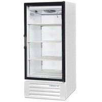 Beverage-Air LV10HC-1-W LumaVue 24 inch White Refrigerated Glass Door Merchandiser with LED Lighting