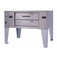 Bakers Pride DS-805 Super Deck Natural Gas Single Deck Gas Pizza Oven - 70,000 BTU