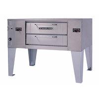 Bakers Pride DS-805 Super Deck Natural Gas Single Deck Gas Pizza Oven - 70,000 BTU