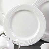 CAC GAD-9 Garden State 9 3/4 inch Bone White Round Porcelain Plate - 24/Case