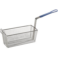 R & V Works BLUE HANDLE BASKET Equivalent 13 1/4 inch x 5 1/2 inch x 5 11/16 inch Replacement Fryer Basket for Deep Fryers
