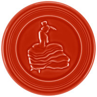 Homer Laughlin 443326 Fiesta Scarlet 6 inch Trivet - 6/Case