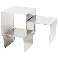 American Metalcraft RSH1 Hammered Stainless Steel Riser Set